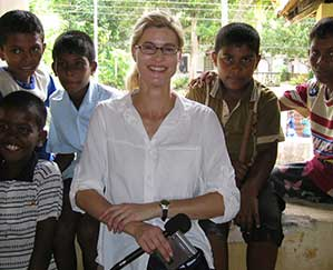Heather Bosch speaks to young victims of a deadly tsunami in Sri Lanka and they are hopeful for a bright future