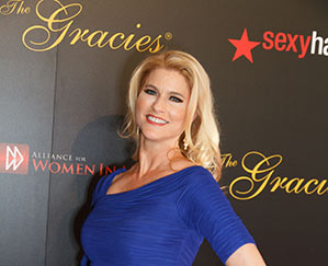 Heather Bosch in Los Angeles at the 2014 Gracie Awards where she won for Outstanding Soft News Feature