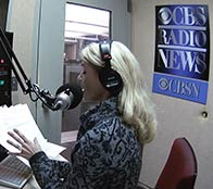 Heather Bosch anchoring the CBS News hourly update on September 20 2015