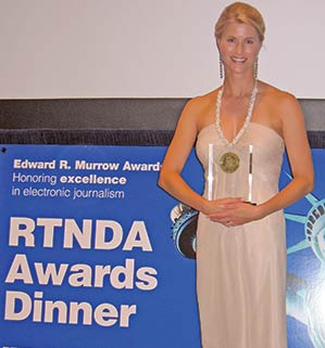 Heather Bosch in New york for the Edward R. Murrow awards. See Heather Bosch's awards and honors as a news reporter, anchor and journalist