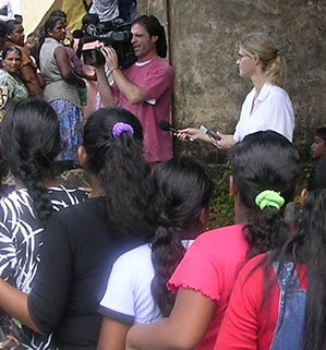 Heather Bosch reporting from Sri Lanka where tsunami victims wait in line for help