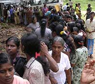 tsunami victims in Sri Lanka line up for supplies as Heatherr Bosch reports